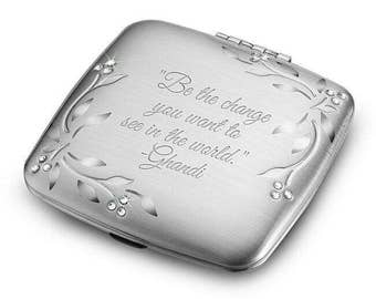 Personalized Compact Mirror, Office Gifts, Administrator gifts, Teacher gifts, Engraved Compact