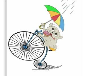 Bike riding donut pug.