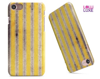 Vintage Brown and Yellow Vertical Stripes - LolliLuxe Snapit Case for the iPhone7 or7 Plus | 6/6 or 6/6s Plus | 5/5s/SE | Galaxy & More!