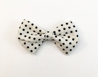 Polka Dot Classic Bow - Baby Bows - Baby Hair Clips - Baby Headbands - Toddler Headband - Baby Hair Bows - Hair Bows