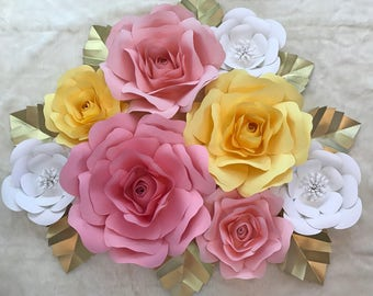 Large Paper Flower Decor/Nursery Decor ****Customize your Order*****