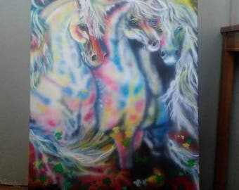 horse painting 36x24