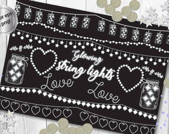 String lights clipart, string lights vectors, mason jars clipart, mason jars vectors, fairy lights clipart, fairy lights vectors, wedding