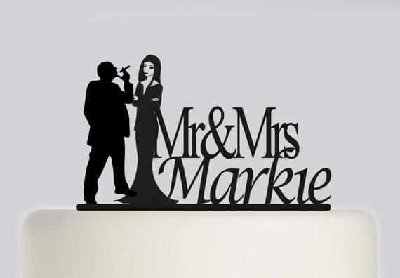 addams family wedding cake topper items similar to wedding cake topper and groom the 10540