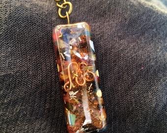 Spiritual Protection Orgone Energy Generator Keychain- Psychic Energy Orgonite® Talisman- Spirit Magic Orgonite® Energy Keychain- Hayoka