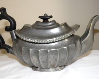 DIXON & SMITH Britannia Pewter Teapot 1811-1822 Aladdin Lamp Style antique