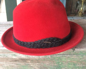 red stetson fedora