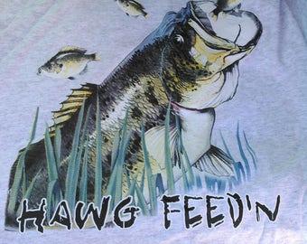Bass Fishing T-shirt-Hawg fishing t-shirt- Hawg feedin t-shirt-Fishing T-shirt
