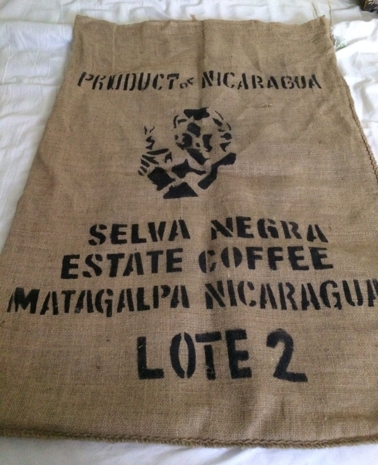 Burlap coffee bag crafts -  7 20 Shipping