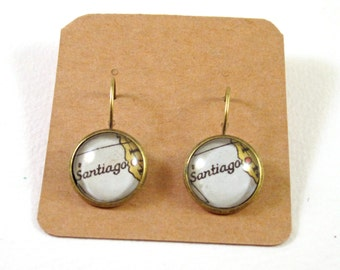 Map earring - Latin America variations