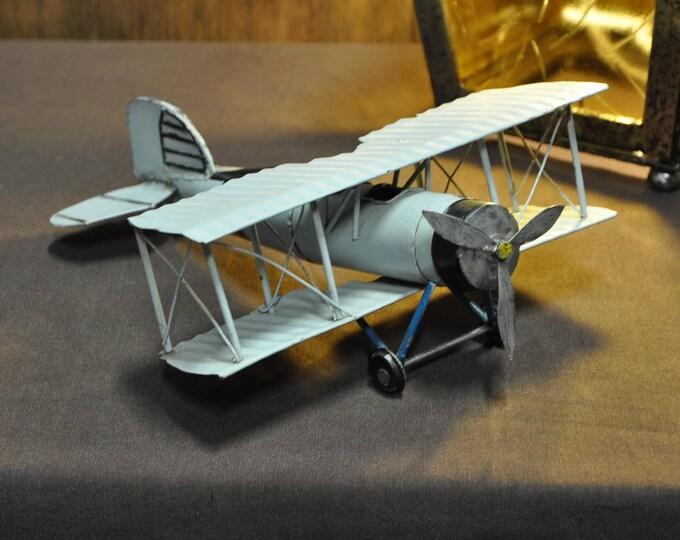 Grey metal airplane