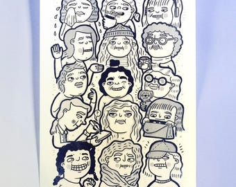 Gaggle of Women - Riso Print