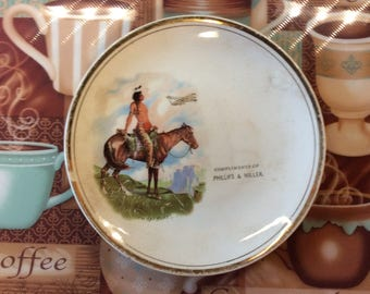 Porcelain plate / What Next / Native America