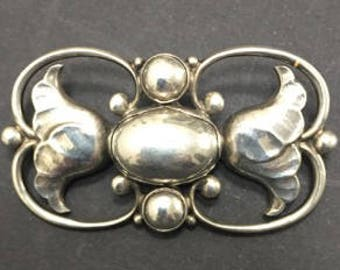 Georg Jensen Silver Brooch, No. 236