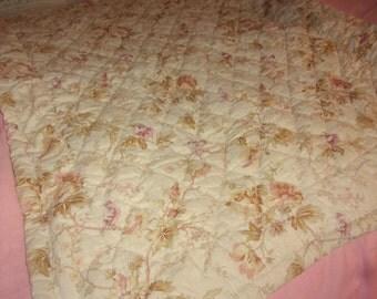Nice comforter, stung, flowers and birds, deco shabby