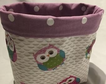 Small fabric Basket (Owl fabric)