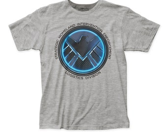 Agents of S.H.I.E.L.D. Soft Fitted 30/1 Cotton Tee (SHLD02) heather