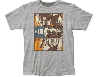 The Good, The Bad and The Ugly Guns Soft 30/1 Men's Cotton Tee (UGLY02) Athletic Heather