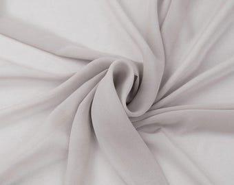 Hi Multi Chiffon Fabric - 10 Yards - Silver (LF1)