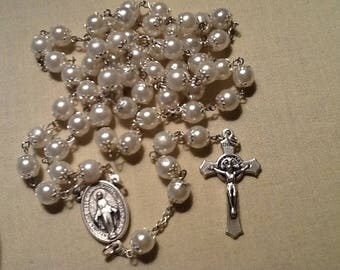 Pearl and Silver Rosary