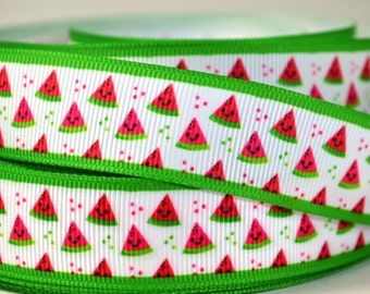 "Watermelon Slices - 7/8"" Printed Grosgrain Ribbon"