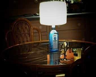 Upcycled Blue Saphire Lamp
