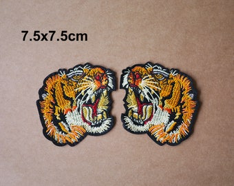 A pair tiger patch, animal patch, decorate gift patch, Embroidery patch, Embroidered patches, Iron on patches, Sew on patch, WS-224
