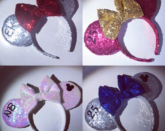 Personalised Ears Birthday Initials Mouse Head