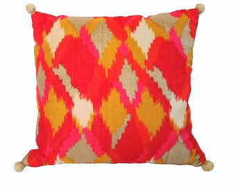 Yellow & Orange Pillow Cover/ Bright Colorful Pillows/ Multicolor pillows/ Decorative pillows/ Accent pillows/ Throw Pillows/ Couch Pillows
