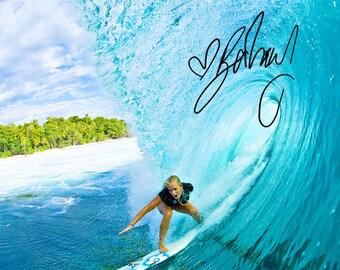 Bethany Hamilton pre signed photo print poster - 12x8 inches (30cm x 20cm) - Superb quality