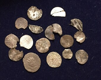 Large collection of Medieval hammered coins (Henry VIII coin included) all British found metal detecting