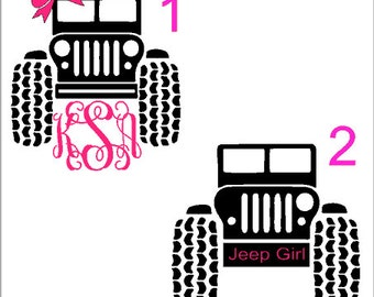 Girls Jeep Decal, Guys Jeep Decal, Yeti Decal, Rtic Decal, Vinyl Decal
