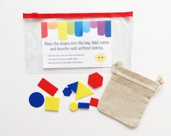 Busy Bag - Lemon - Educational Toy - Activity Kit - Shapes - Kids Travel Activities - Toddler Gift - Preschool Tasks - Fine Motor Skills