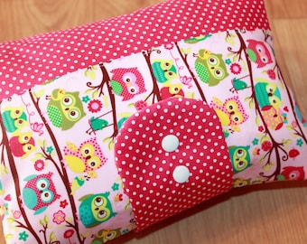 Nappy Wallet (pink, owls)