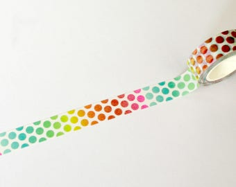 Rainbow Dots Washi tape 15mm