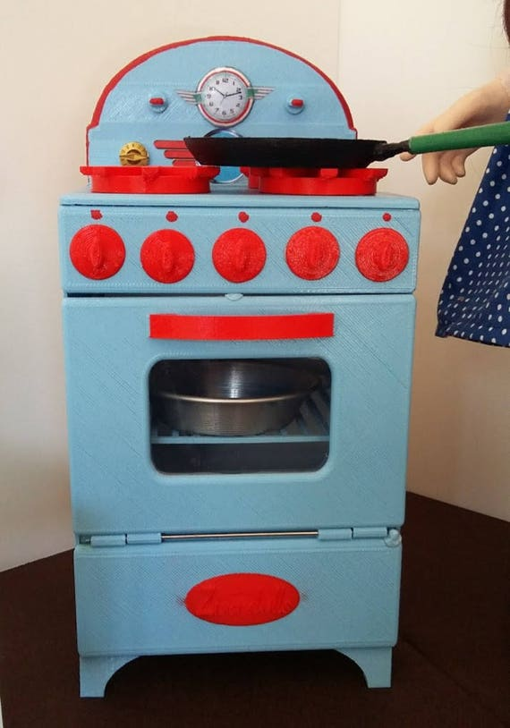 Zisa Dolls retro stove, for 18 inch dolls