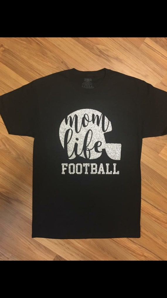 Items similar to mom life football vinyl t shirt on etsy for Best selling t shirts on etsy