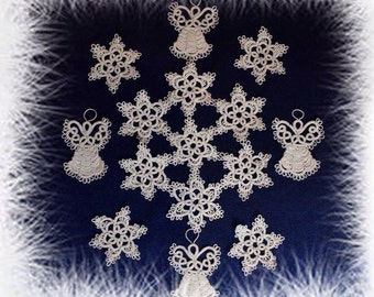 Snowflakes, frivolite