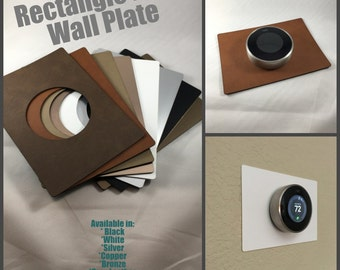 Nest Thermostat wall plate - 5 x 7 inch or 4 x 6 inch Rectangle