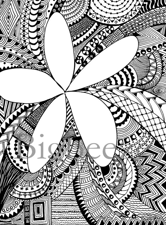 coloring pages of plumerias - photo#33