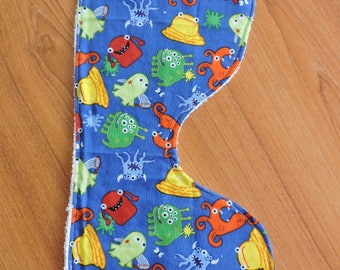 Monster baby Burp Cloth