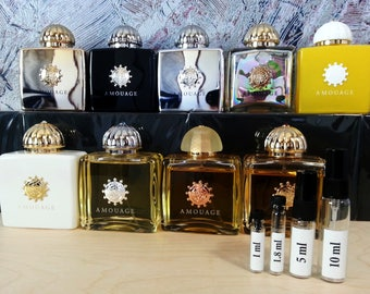 AMOUAGE 4 or 9 pieces fragrance SET for women - niche perfume samples and travel sprays !!! Free Shipping !!!