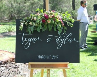 Wedding Welcome Sign | Chalkboard Sign | Rustic Wedding | Wedding Calligraphy | Wedding Signs | Wedding Sign | Wedding Signs Wood