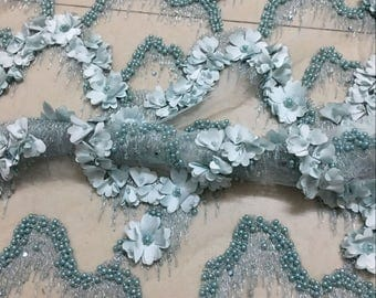 Newest 3D lace fabric,beaded lace elegent wedding lace fabric with 3D flowers,chantilly lace fabric,embroidered lace,french lace,bridal lace