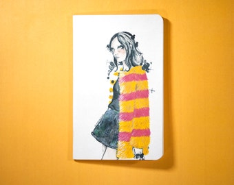 Notebook Girl with Coat 2