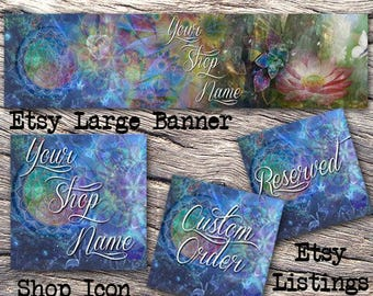 ETSY LARGE COVER Complete Set-Nature Etsy Cover Photo-Premade Banner,Etsy Set-Florall Banner- Etsy Large Cover,New Age Large Cover, #123
