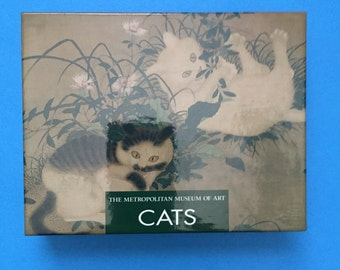 CATS Metropolitan Museum of Art NOTE CARDS; 24 Note Cards; 4 Each of 6 Cards, 25 Envelopes; Very Collectible