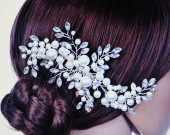 Wedding Hair Accessories Clips Crystal Pearl Flower HairPin Rhinestone Tiara Bridal Crown Hair Pins Comb Hair Jewelry