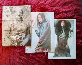 Set of 3 postcard prints