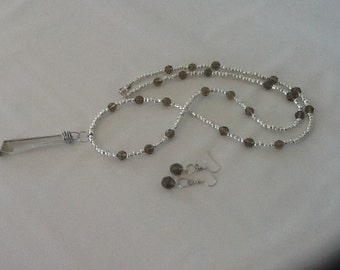 Smoke and silver necklace